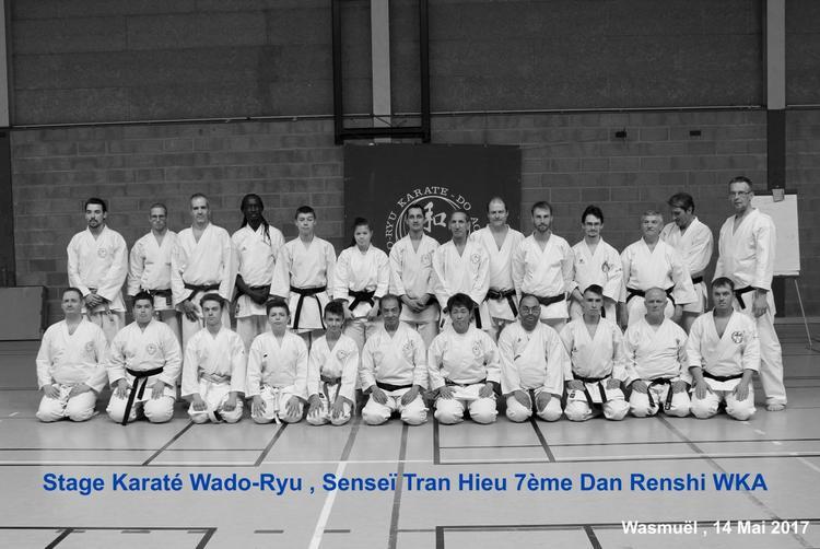 Stage Karaté WADO-RYU BELGIUM dirigé par Senseï Tran Hieu 7ème Dan Renshi