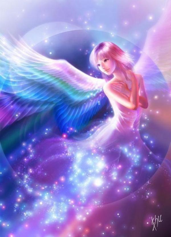 ange multicolore