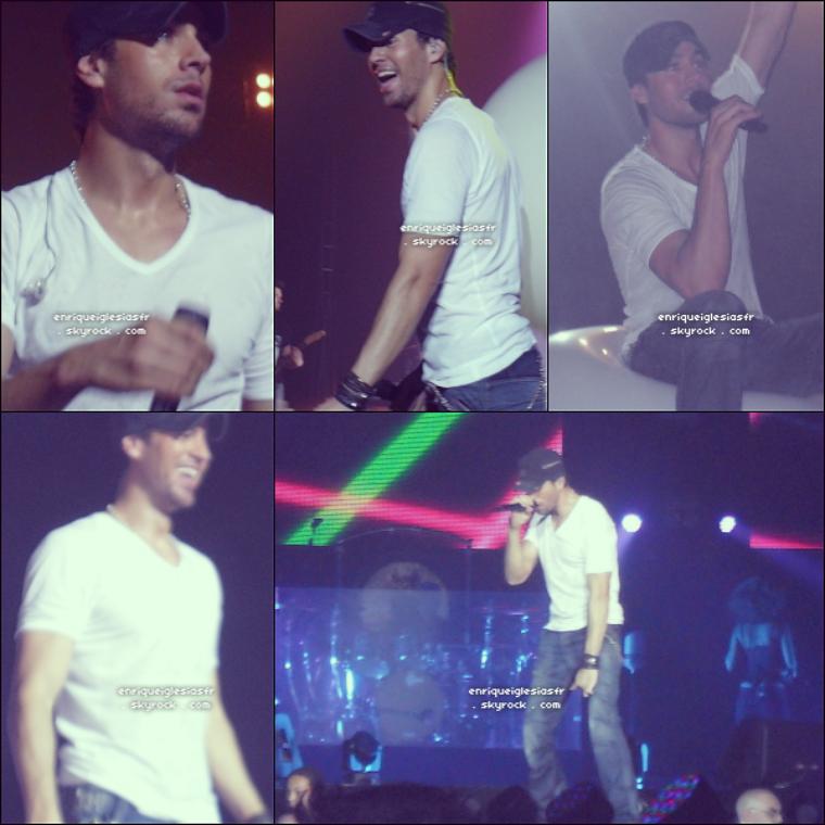 . Mercredi 8 Juin : Enrique performe a Nottingham en Angleterre dans le cadre de sa tournée mondiale. .