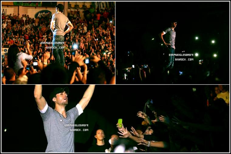 . _____Samedi 9 Juillet : Enrique performe a Honduras dans le cadre de sa tournée mondiale. .