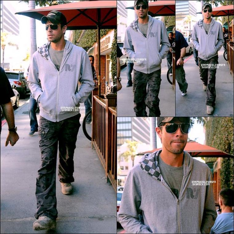 . Jeudi 12 Janvier 2009 : Enrique et son manager dans les rues de Beverly Hills. _________ Flashback .