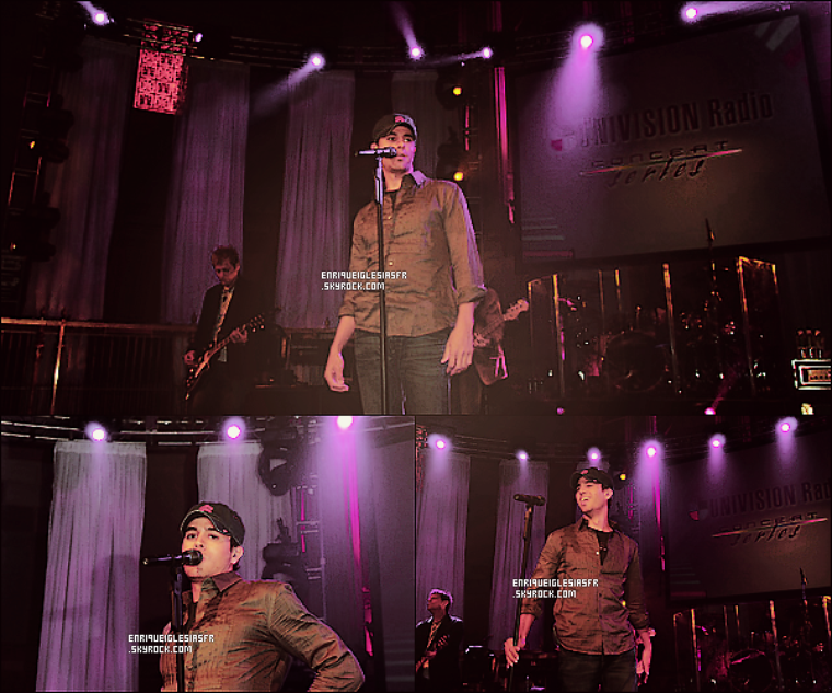 . Lundi 14 Mai 2007 : Enrique aux «MTV Total Request Live» dans le Hall Gotham à New York. - FLASHBACK. .