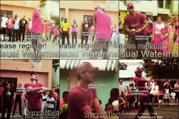 . Jeudi 1er Septembre - Enrique jouant au Baseball avec des fans a Saint Domingue dans la République Dominicaine. .