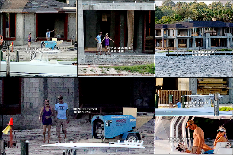 . Mardi 6 Septembre : Enrique et sa chérie ont été aperçus sur le chantier de leurs prochaine maison à Miami. .
