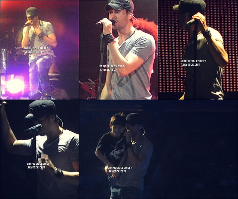 . Mercredi 12 Octobre - Enrique performant a Houston aux Etats Unis dans le cadre de sa tournée Américaine..