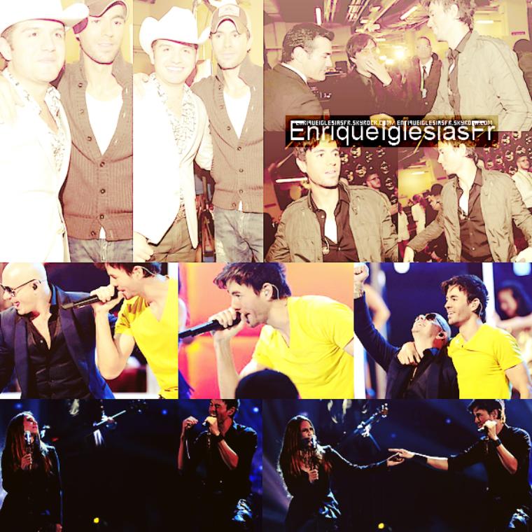 """21/11/2013 : Enrique Iglesias était comme prévus présent aux Latin Grammy Awards où il a performé son dernier titre """"Loco"""" Il était vétu de sa tenue de scène habituelle composé d'un t-shirt noir , un & de son jean bleu habituel.Il chanté avec India Martinez."""