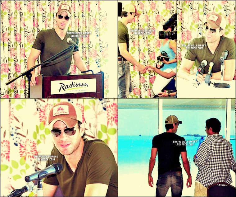 12/04/14 Enrique  était de passage à Barbados pour y donner une conférence de presse pour SEX&LOVE.