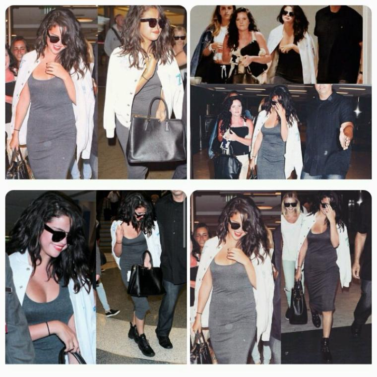 Selena Gomez a été vue a l'aéroport LAX en Californie le 19 avril 2015
