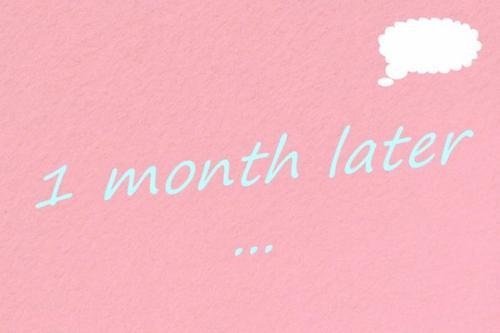 1 mois de traitement ...