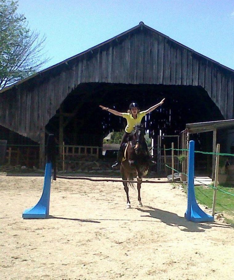 En saut