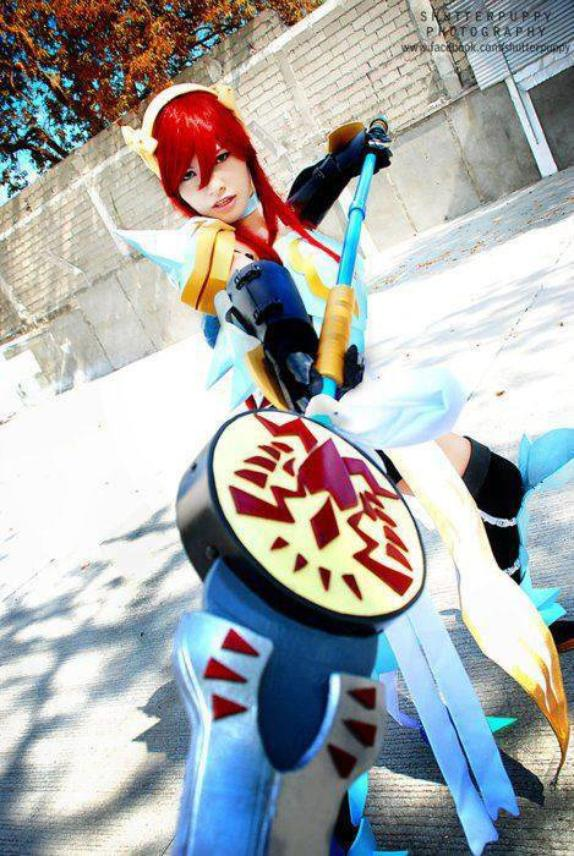 Cosplay Erza Scarlet de fairy tail