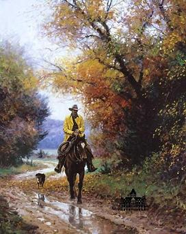 Le cowboy en automne