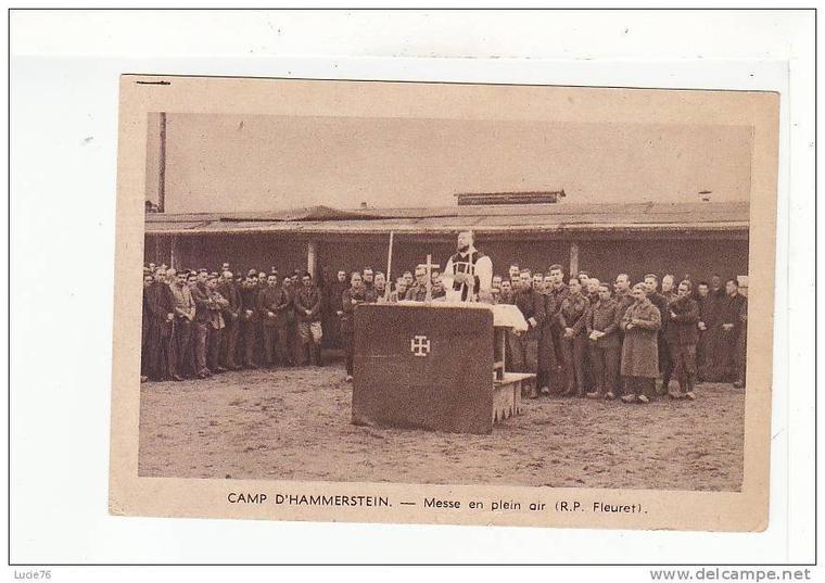 Militaire soldat - Carte photo  des prisonniers au Stalag II B à Hammerstein en Allemagne Deutschland