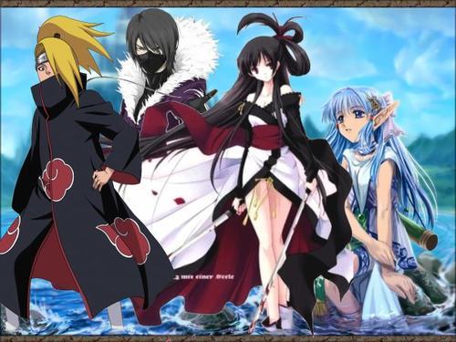 Chapitre 1 : Rencontre des nouveaux ninjas avec tous leurs caractères.