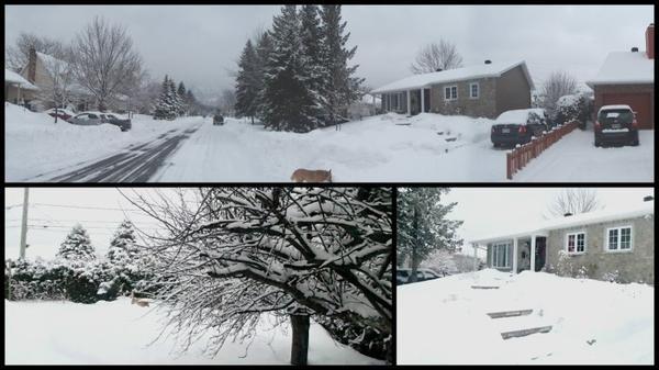 La neige sur ma maison