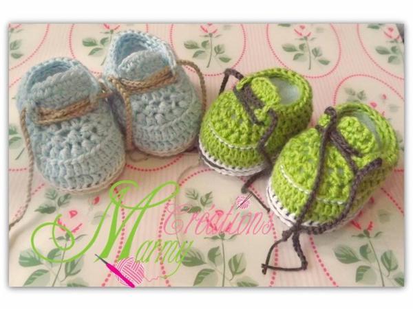 chaussons au crochet www.creationsmarmy.etsy.com