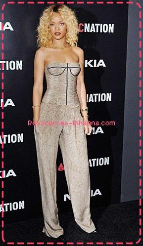 Rihanna au déjeuner des « Pré-Grammy »  , Elle est magnifique je trouve ! TOp ou FLOP ?  > Whitney , RiP ..