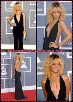 Rihanna aux Grammy , Sa robe est magnifique et j'aime beaucoup sa performance sur We Found Love ! Vos avis ??
