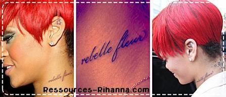 Tatouages de Rihanna !  Partie 1 !