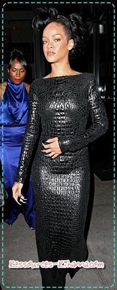 Rihanna quittant son hôtel à NY + infos