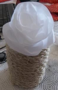 DIY roses blanches dans un pot (début)