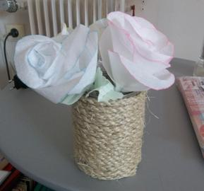 DIY roses : le résultat final