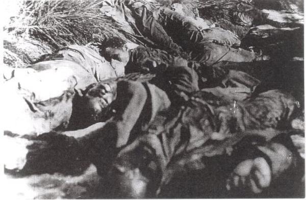 le massacre de soldats noir