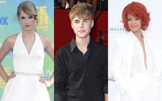 Taylor Swift, jeune star la mieux payée devant Justin Bieber et Rihanna