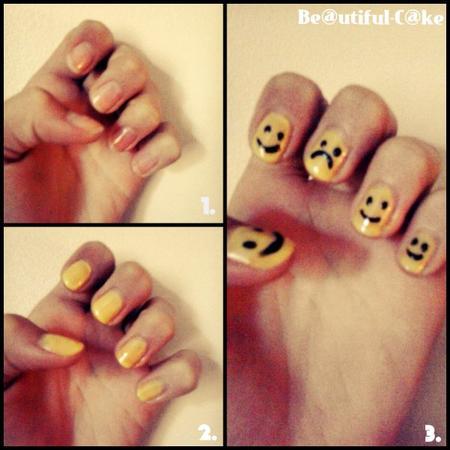 Nail Art : Tuto Smiley