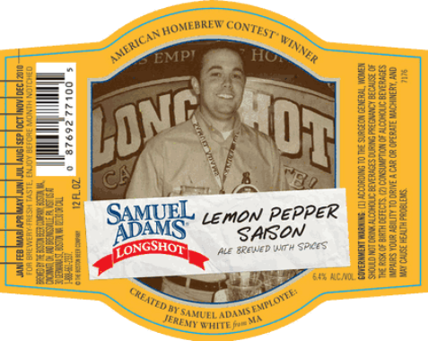 Review : Samuel Adams LongShot Lemon Pepper Saison
