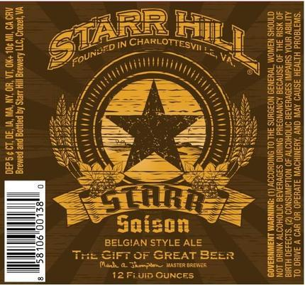 Review : Starr Hill Starr Saison