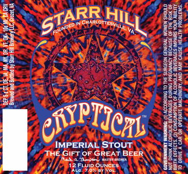 Review :  Starr Hill Cryptical Imperial Stout