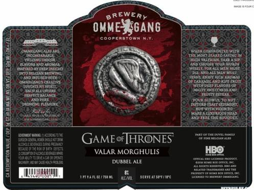 Review : Ommegang Game Of Thrones #4 - Valar Morghulis