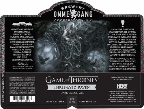 Review :  Ommegang Game of Thrones #5 - Three-Eyed Raven