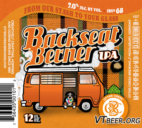 Review :  Otter Creek Backseat Berner IPA