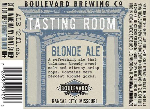 Review :  Boulevard Tasting Room Series Blonde Ale