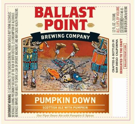 Review : Ballast Point Pumpkin Down