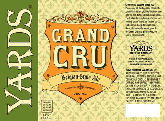 Review :  Yards Grand Cru