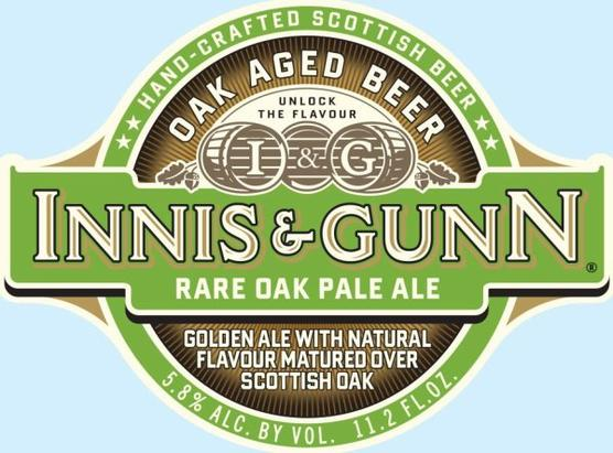 Review :  Innis & Gunn Rare Oak Pale Ale