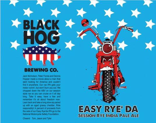 Review: Black Hog Easy Rye' Da IPA