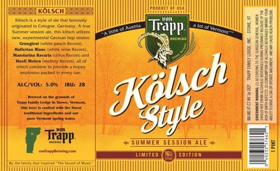 Review: Von Trapp Kolsch Style