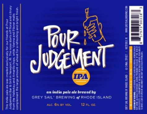 Review: Grey Sail Pour Judgement IPA