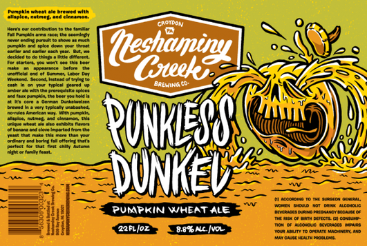 Review :  Neshaminy Creek Punkless Dunkel Pumpkin Wheat Ale