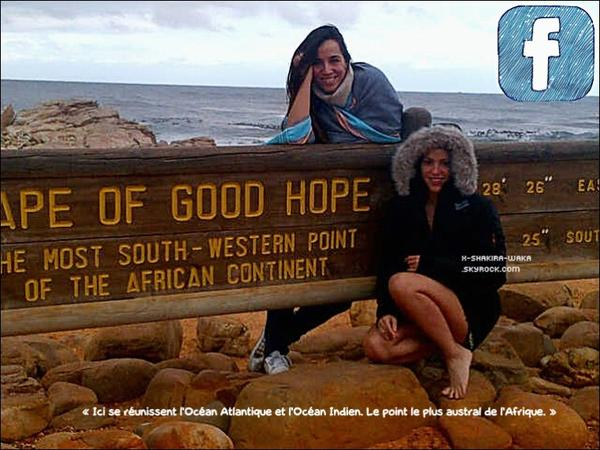 🌴 Shakira a posté des « Photos d'Elle ».  13-14 Février 2012 - Afrique du Sud.