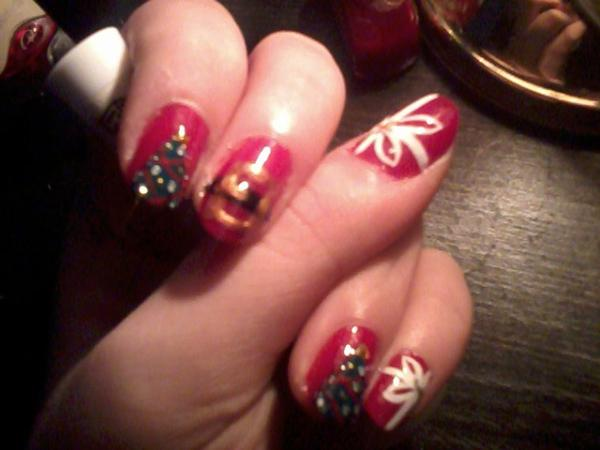 Nail-Art Noël
