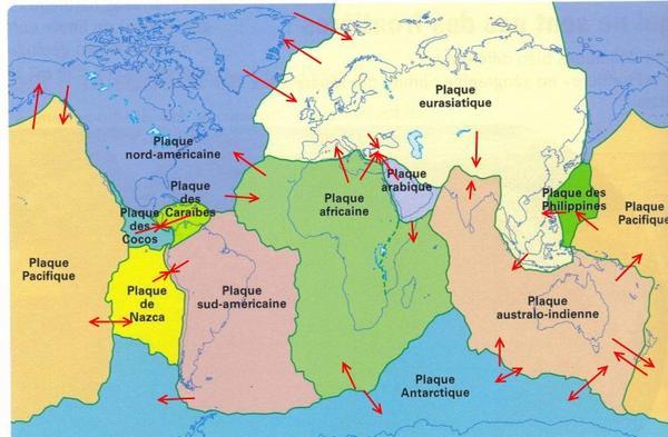 Géographie les plaques tectoniques