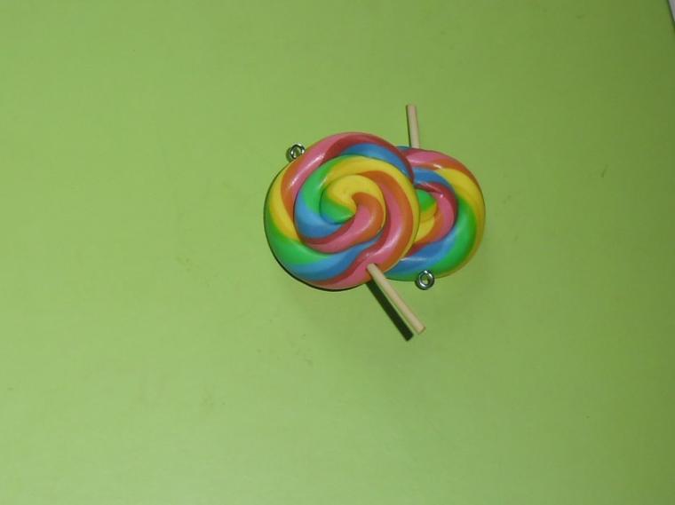 les sucettes multicolore