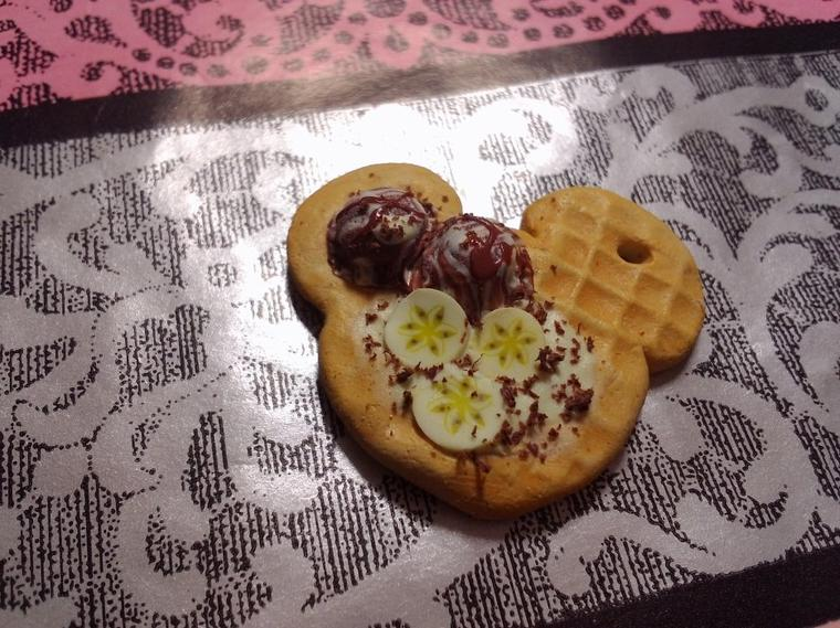 gaufre Mickey vanille/chocolat