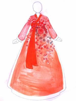 Un hanbok pour la Dame aux Camelias