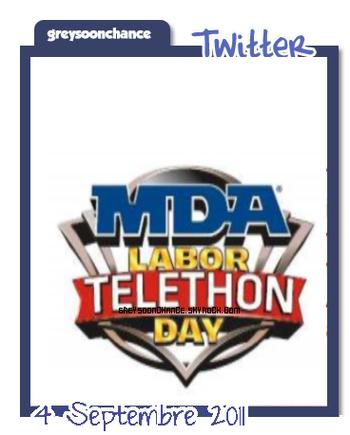 •Le 4 Septembre | Greyson était présent au Téléthon MDA